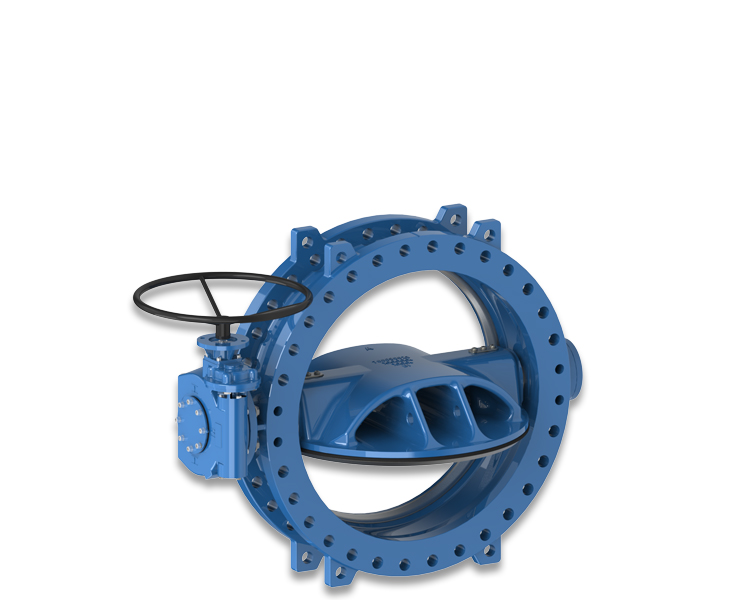 SERIES 766 DOUBLE ECCENTRIC DESIGN BUTTERFLY VALVE WITH RUBBER SEAT IN DISC