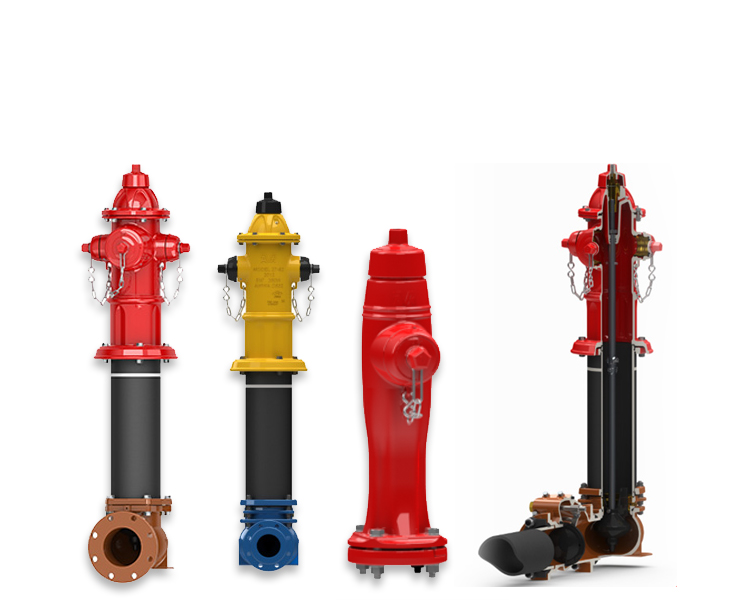 A complete line of dry barrel hydrants designed for high flows and low maintenance.