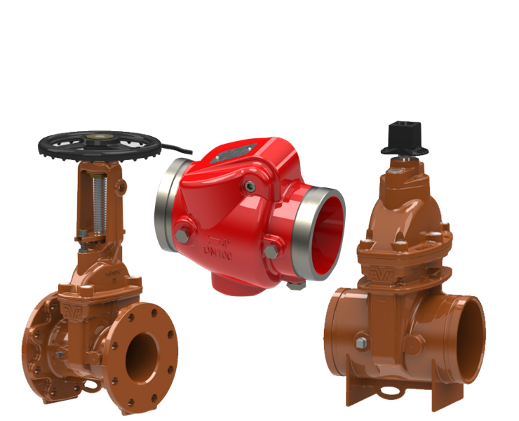 Valves and indicators for fire protection systems.