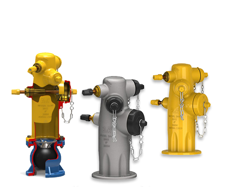 A complete line of wet barrel hydrants designed for high flows and low maintenance.